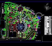 广场绿化工程总平面图