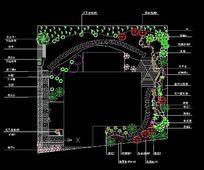 某别墅庭院绿化平面图 dwg