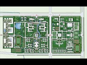 某学校总平面规划彩平图