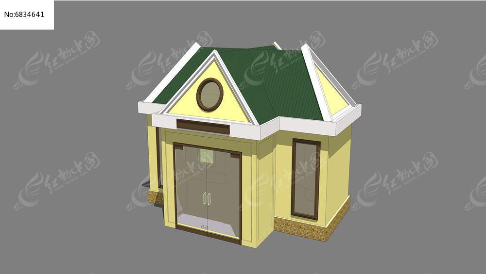 欧式洋房素材下载_建筑设计图片