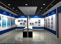 荣誉室 展览室效果图 PSD