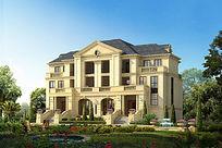 私家别墅景观设计效果图
