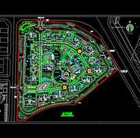 小区的景观规划总平面
