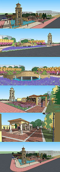 小型公园街角景观设计
