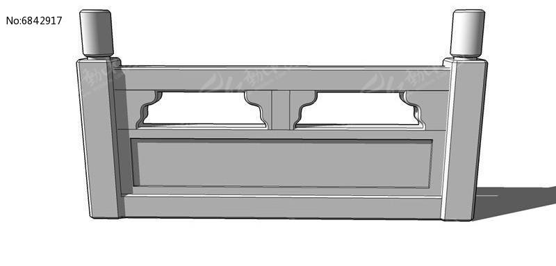 中式石栏杆模型