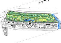 住宅河边绿化带彩平图
