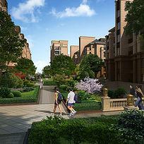 住宅区内绿化景观效果
