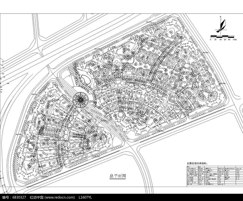 住宅小区总平面图图片