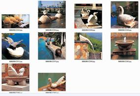 动物雕塑吐水小品意向图