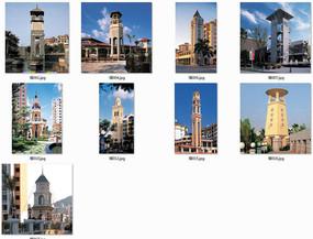欧式标志性塔楼景观