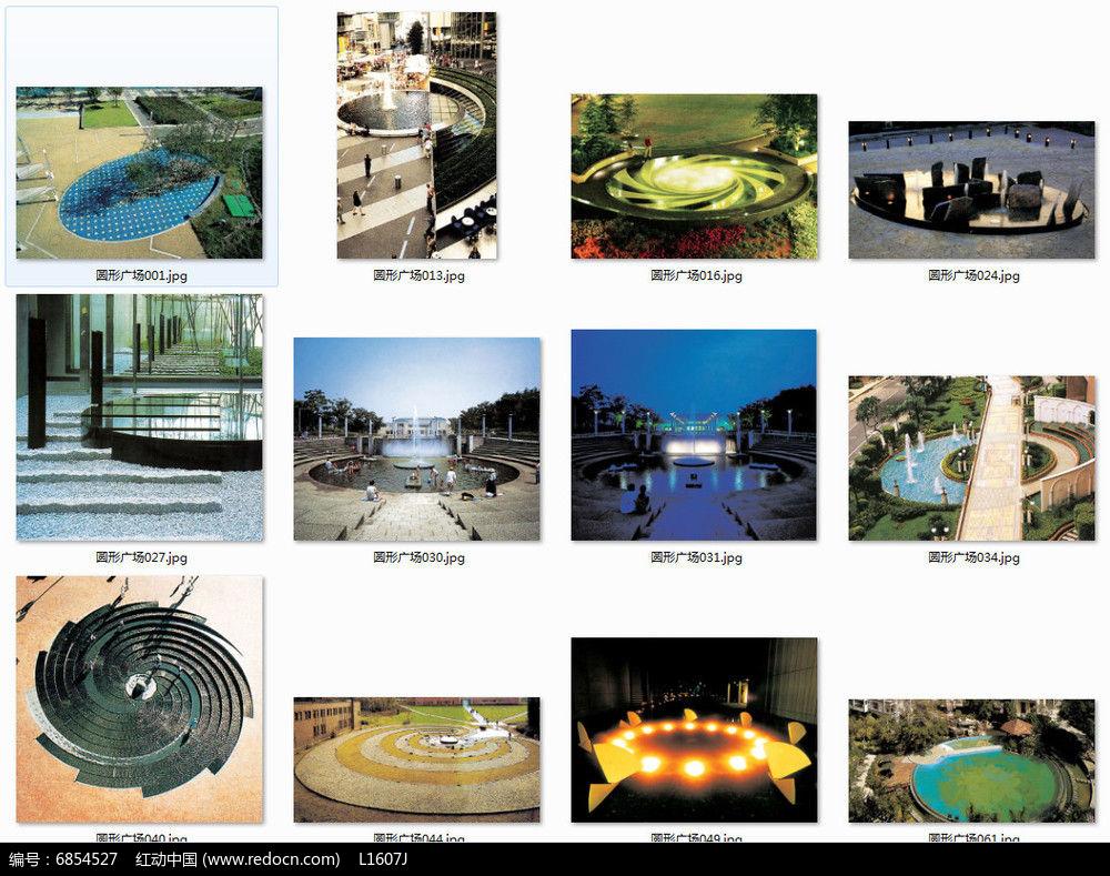 喷泉广场景观意向图