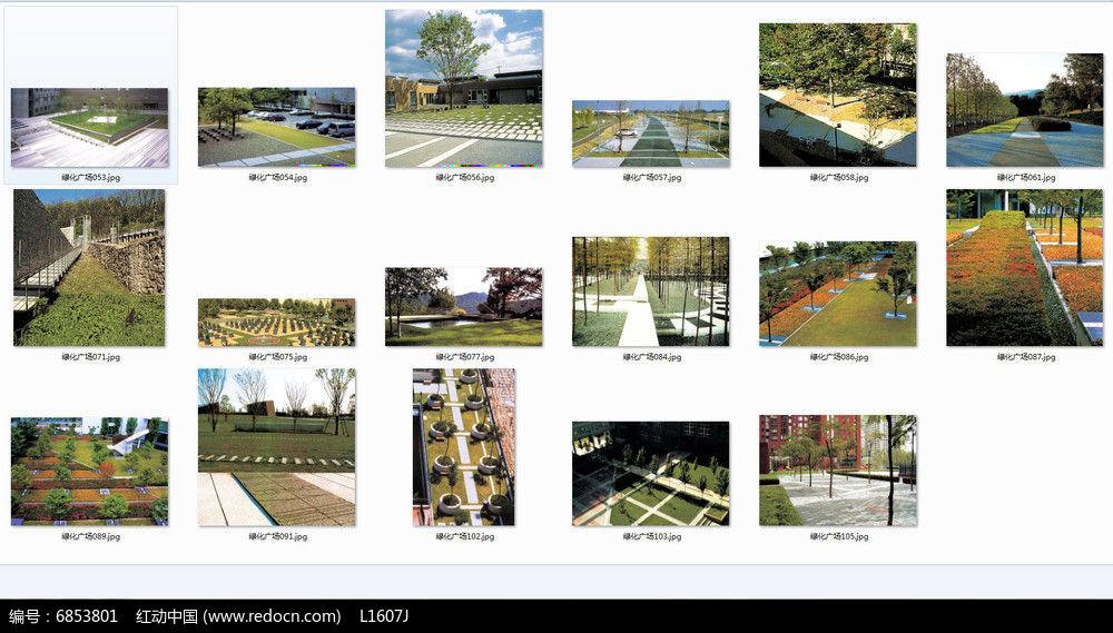 树阵广场景观意向图图片