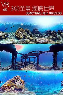vr720全景视频海底世界视频素材