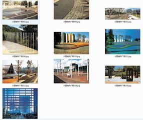 小广场创意装置景观意向图