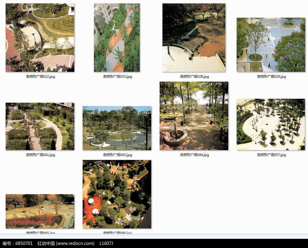 自然树阵广场意向图jpg素材下载_景观套图设计图片