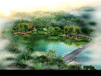 滨水景观带节点方案效果图