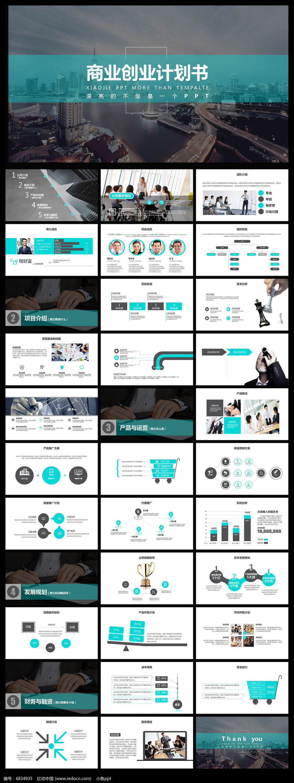 框架完整的创业计划书商业融资招商PPT模板图片