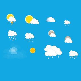天气图标PSD素材图