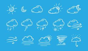 天气图标PS素材
