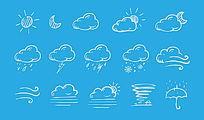 天气图标PS素材 PSD