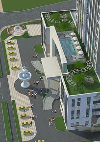 屋顶花园图 PSD