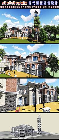 现代别墅建筑设计3d模型04