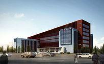 大型医院建筑效果图