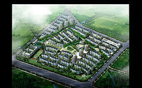大型住宅区鸟瞰效果图