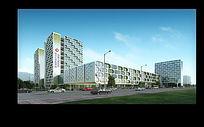 儿童医院建筑景观效果PSD