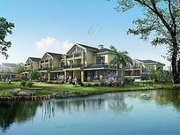 高端住宅区设计效果图PSD