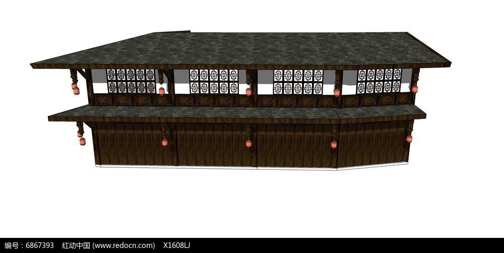 古建商店茶楼木质建筑图片