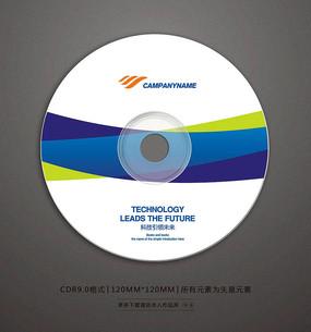 企业宣传视频光盘贴纸设计 CDR