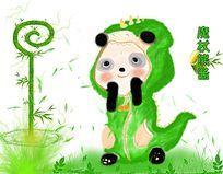 熊猫插画漫画设计