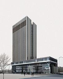 医院建筑效果图PS素材