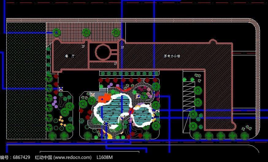 办公楼景观设计平面图