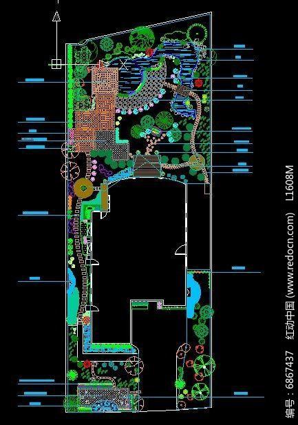 别墅庭院景观设计平面图图片
