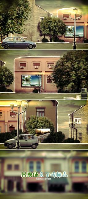 剪纸风格微商广告微信小视频模板