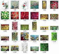 植物图案艺术玻璃