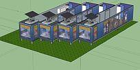 联排式集装箱设计