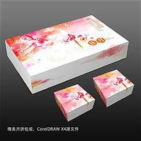 水彩手绘风格中秋月饼包装彩盒