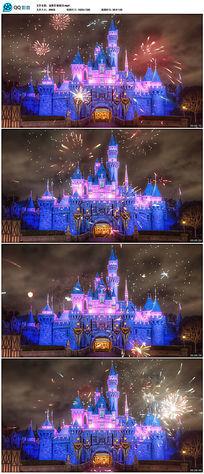 迪斯尼城堡六一儿童节背景视频素材