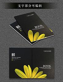 黄色花瓣质感黑色封面