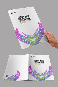 动感对称封面设计