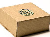 瓦楞纸箱包装LOGO标志展示样机