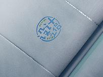 斜纹布面LOGO标志展示样机