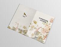 花鸟中国风淡雅艺术笔记本封面