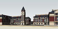 欧式幼儿园3D模型
