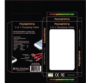 苹果手机数据线彩盒设计