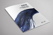 水墨渲染蓝色封面设计