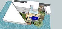 私家庭院景观设计模型